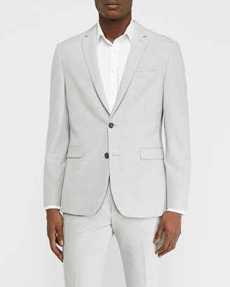 Express Extra Slim Light Gray Luxe Comfort Knit Suit Jacket