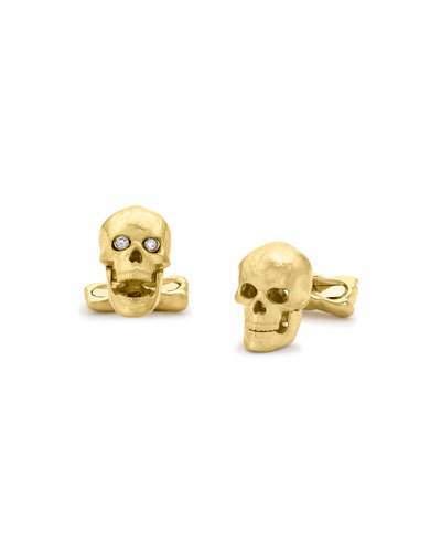 Deakin & Francis Yellow-Gold Skull Cuff Links