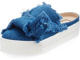 No.21 No. 21 Frayed Denim Platform Mule, Blue