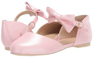 Janie and Jack Pearlized Bow Flat (Toddler/Little Kid/Big Kid) (Pink) Girl's Shoes