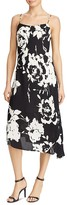 Lauren Ralph Lauren Asymmetric Floral Print Slip Dress