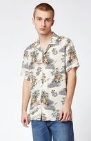 PacSun Fighting Tigers Short Sleeve Button Up Camp Shirt