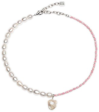 Dannijo Basel 8MM Freshwater Pearl & Bead Pendant Necklace