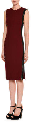 Tom Ford Sleeveless Zip-Trim Sheath Dress