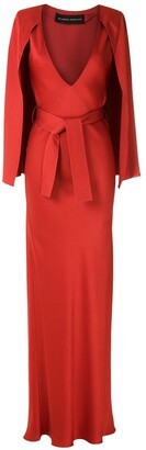 Gloria Coelho Cape Long Dress