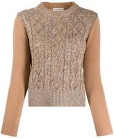 Ballantyne long-sleeve fitted jumper