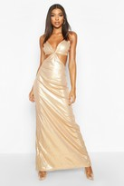 boohoo Tall Cut Out Detail Strappy Sequin Maxi Dress