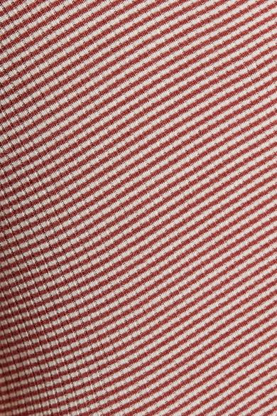 Kain Label Marielle Striped Stretch-Modal Bodysuit