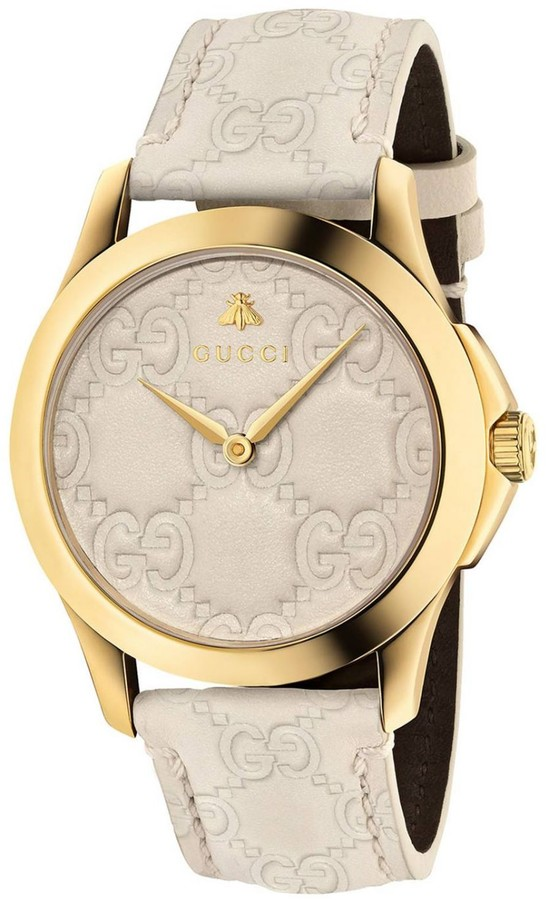 Gucci Watch G-timeless Watch 38 Mm Case With Imprinted Gg Monogram