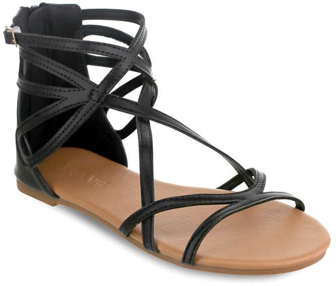 OLIVIA MILLER Largo Multi Strap Buckle Sandals Women's Shoes