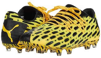 Puma Future 5.1 Netfit Low FG/AG (Ultra Yellow Black) Men's Soccer Shoes