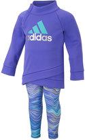 adidas 2-Pc. Fleece Top & Wave Leggings Set, Toddler & Little Girls (2T-6X)