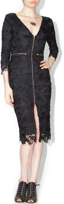 Xtaren Black Lace Zipper Dress