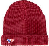 MAISON KITSUNÉ Burgundy Patch Wool Hat