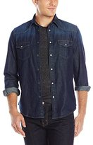 Ben Sherman Men's Long-Sleeve Denim Western Shirt