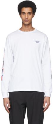 Saturdays NYC White Striped S Long Sleeve T-Shirt