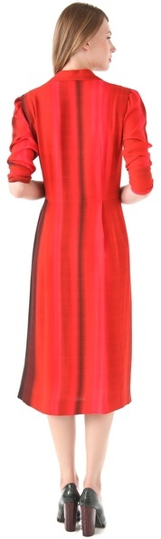 Sonia Rykiel Zip Front Printed Dress
