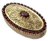 Tatitoto Gioie Women's Brooch in 18k Gold with Garnet, 11 Grams