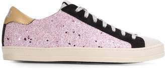 P448 John glitter-panel low top trainers