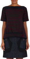 Sacai Women's Striped Cotton-Cashmere Layered Shirt