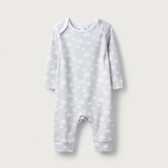 The White Company Grey Cloud Sleepsuit, Grey, 12-18mths