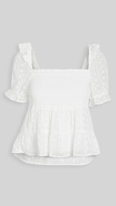 BB Dakota Embroidered Chiffon Smock Top