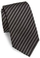 Giorgio Armani Textural Striped Slim Silk Tie