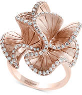 Effy Pave Rose by Diamond Flower Ring (9/10 ct. t.w.) in 14k Rose Gold