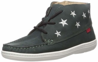 Marc Joseph New York Unisex-Kid's Leather Ankle Boot Embroidered Star Detail Loafer
