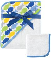 Baby Vision Hudson Baby® Fish Hooded Towel and Washcloth Set in Blue