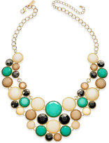 INC International Concepts Gold-Tone Multi-Stone Statement Necklace, Created for Macy's