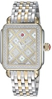 Michele Deco Two-Tone Diamond Grid Diamond Watch Watches