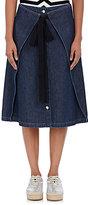 MM6 MAISON MARGIELA Women's Cotton Denim Knee-Length Skirt-NAVY