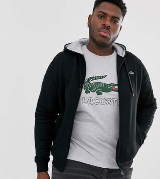 Lacoste Sport logo full zip hoodie in black
