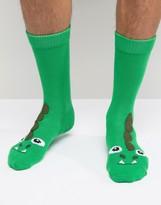 Asos Slipper Socks With Dinosaur Design