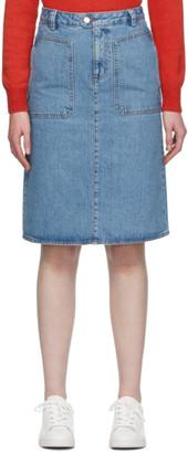 A.P.C. Blue Nevada Skirt