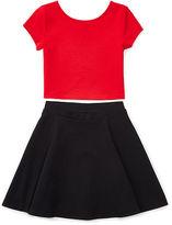 Ralph Lauren Color-Blocked Top & Skirt Set