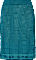 M Missoni Crochet-knit wool-blend skirt