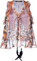 Roberto Cavalli printed vest - women - Silk/Polyester - 42