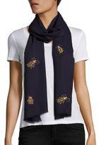 Janavi Bugs Merino Wool Scarf