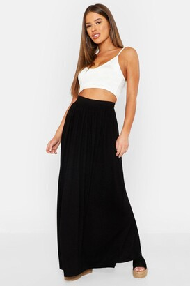 boohoo Petite Floor Sweeping Jersey Maxi Skirt