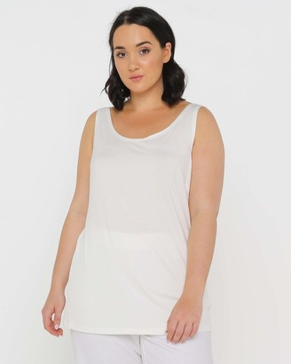 Advocado Plus - Women's Neutrals Sleeveless Tops - Classic Cami - Size One Size, 14 at The Iconic
