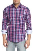 Stone Rose Trim Fit Plaid Sport Shirt