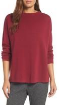 Eileen Fisher Women's Mock Neck Box Silk & Organic Cotton Sweater