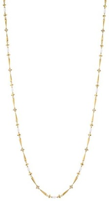 Etho Maria Noble 18K Yellow Gold, Brown Diamond & Ceramic Long Necklace