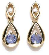 Chic gold tanzanite and diamond earrings