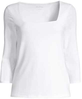 Lilly Pulitzer Nell Square-Neck T-Shirt