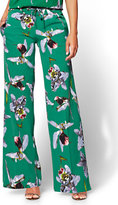 New York & Co. 7th Avenue Pant - Palazzo - Orchid Print
