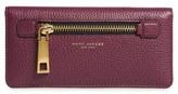 Marc Jacobs Women's 'Gotham' Leather Wallet - Burgundy