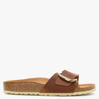 Birkenstock Madrid Big Buckle Tan Leather Mules